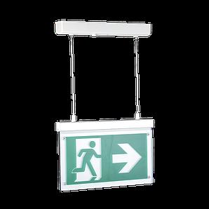 Покажчик евакуаційного виходу акумуляторний підвісний для аварійного освітлення 220В