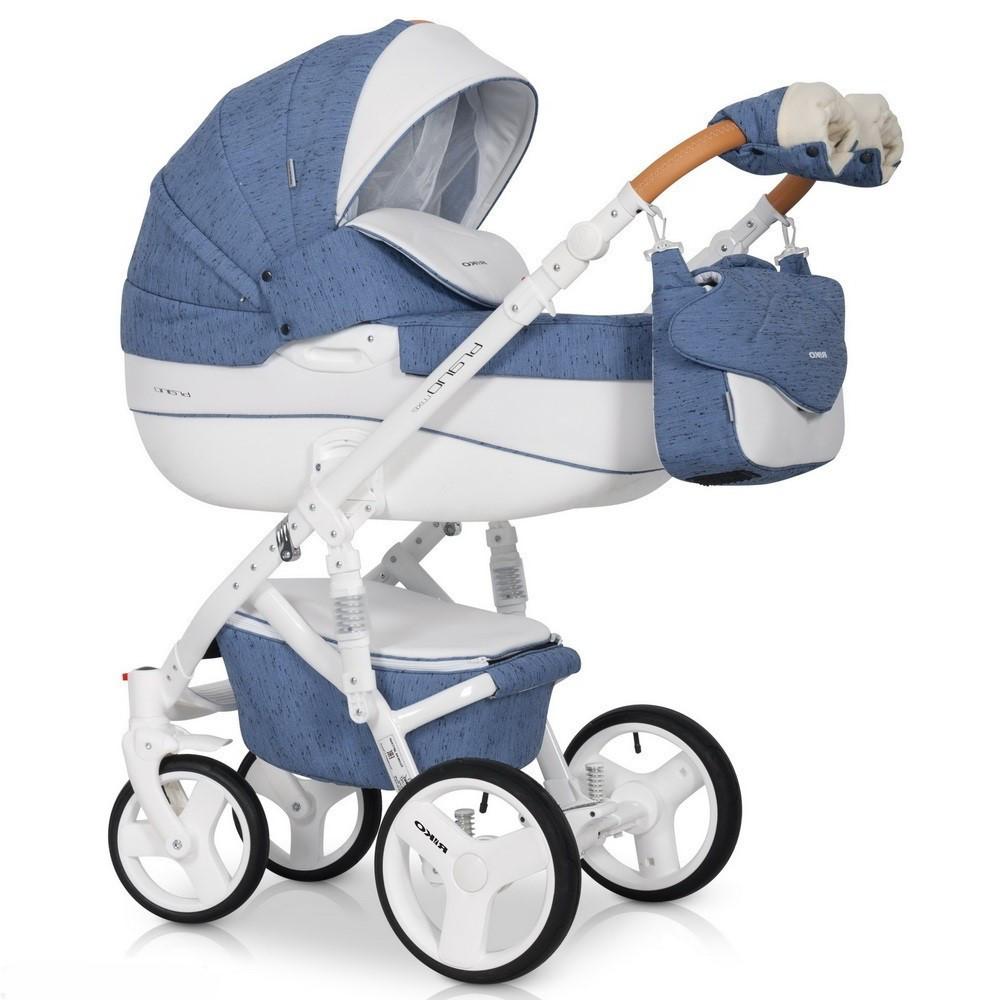 Детская универсальная коляска 3 в 1 Riko Brano Luxe 04 Denim