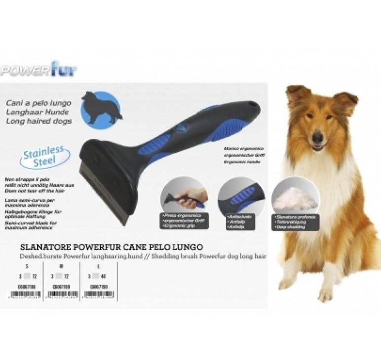 """Фурмінатор  POWERfur CROCI """"S"""" для довгошестних собак вагою до 9 кг , 4,5см,"""