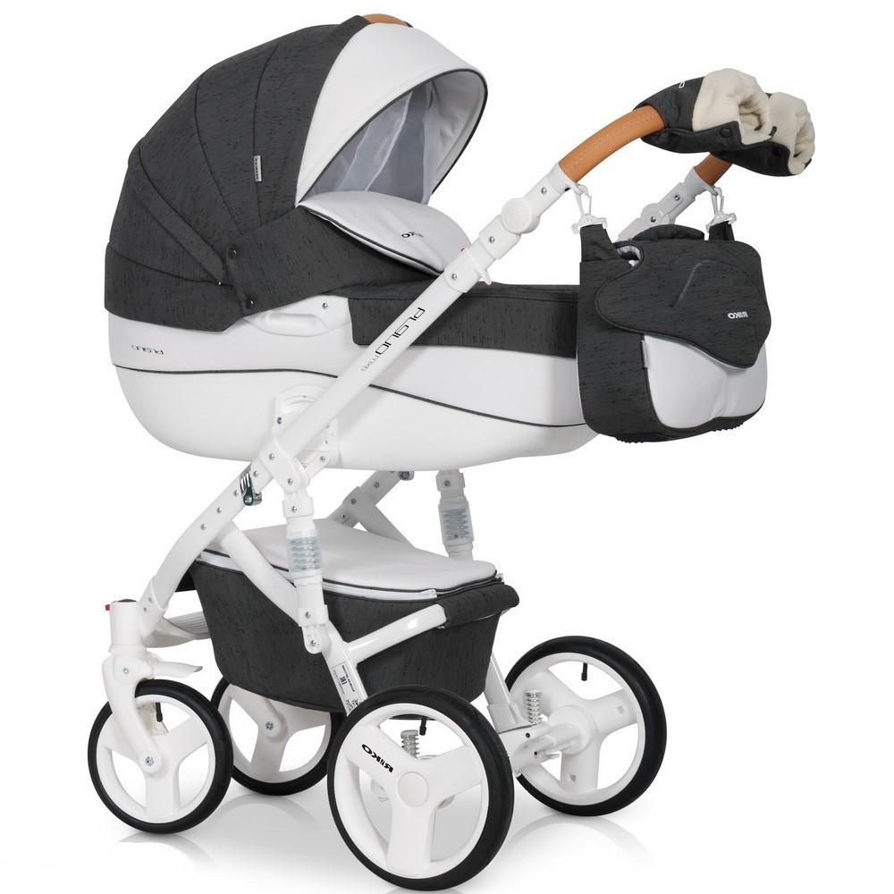 Детская универсальная коляска 3 в 1 Riko Brano Luxe 06 Antracite