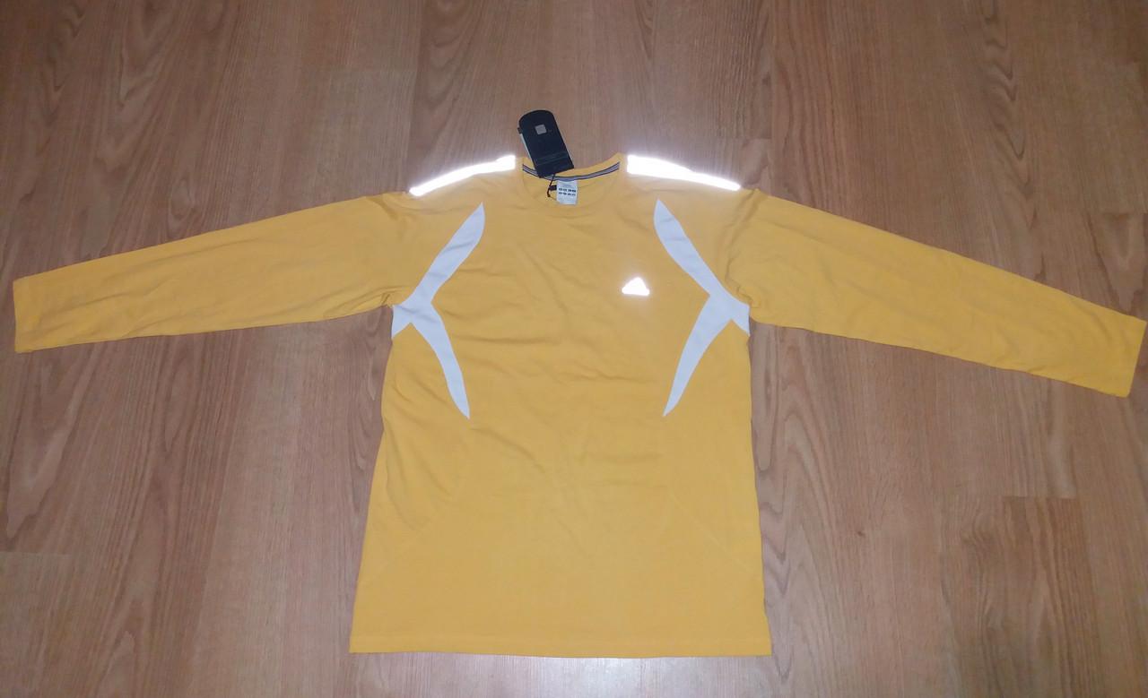 Мужской спортивный реглан Adidas желтый р.50 (XL)