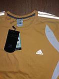Мужской спортивный реглан Adidas желтый р.50 (XL), фото 4