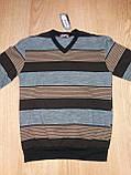 Мужской свитер Salgado полоска коричневый р.48,52, фото 2