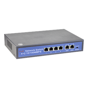 Комутатор сетевой 4 порта POE Switch 60W