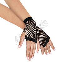 Перчатки сеточка короткие без пальцев Черные (tg7Black)