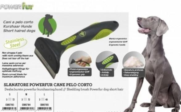 """Фурмінатор  POWERfur CROCI """"М"""" для короткошерстних собак вагою 9-24 кг, 6,5 см"""