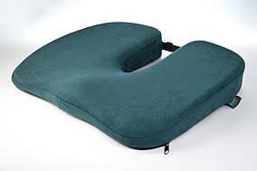 Ортопедическая подушка для сидения - Model-1, ТМ Correct Shape. Подушка от геморроя, простатита, подагры изумрудный