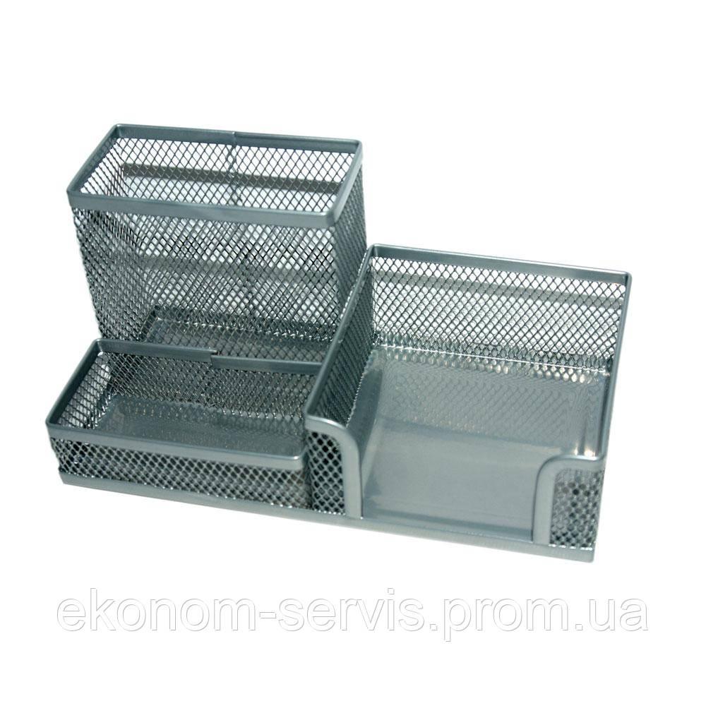 Підставка-органайзер 203х105х100мм метал., срібний (8304 00 00 00)