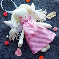 Летящий ангел девочка. Мягкая игрушка ручной работы. Высота 17 см
