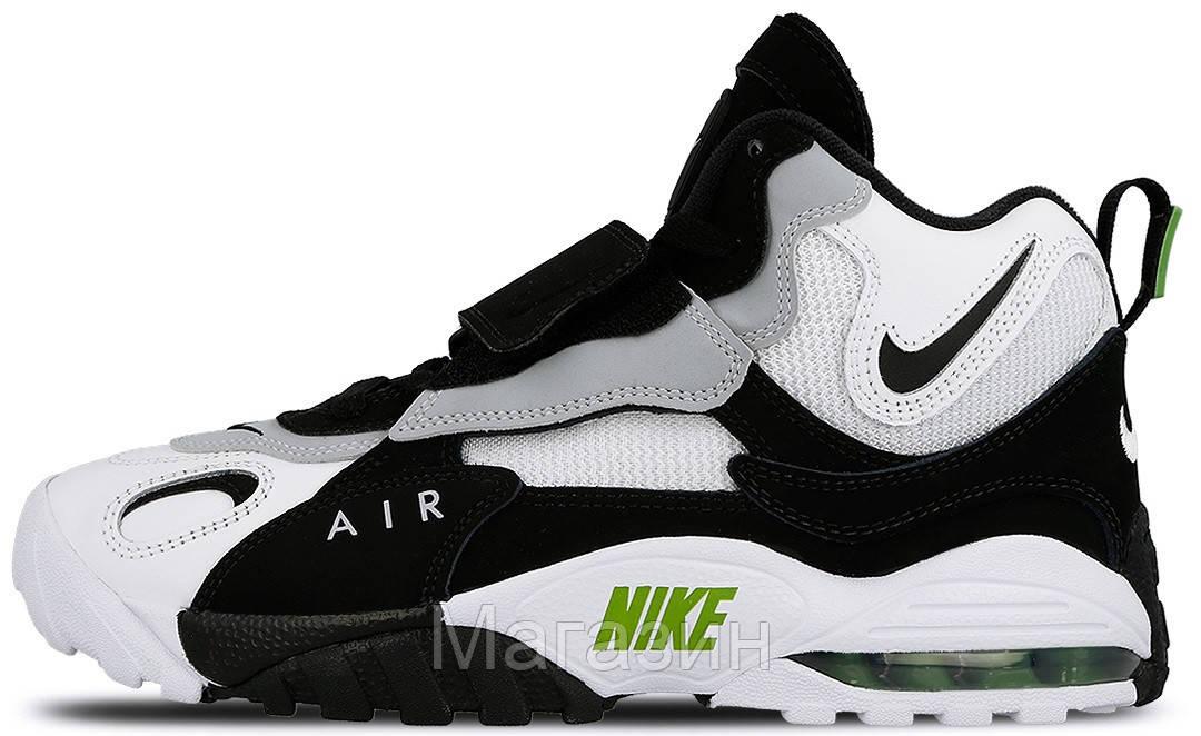 Мужские кроссовки Nike Air Max Speed Turf White/Black Найк Аир Макс белые с черным