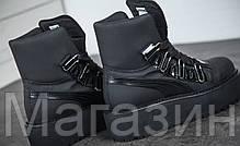 Женские кроссовки ботинки Puma Fenty Rihanna Sneaker Boot Black высокие Пума Фенти Рианна на платформе черные, фото 3