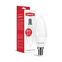 Лампа светодиодная C37 8W 4100K 220V E14 1-LED-736