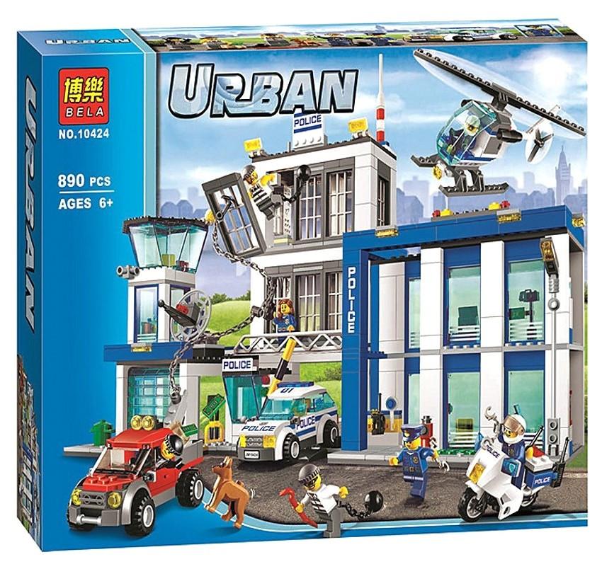 """Конструктор Bela 10424 Urban """"Полицейский участок"""" 890 деталей. Аналог Lego City 60047"""