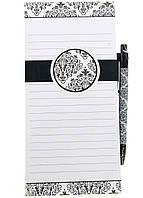 M18-570131, Блокнот-магнит на холодильник, , белый-черный