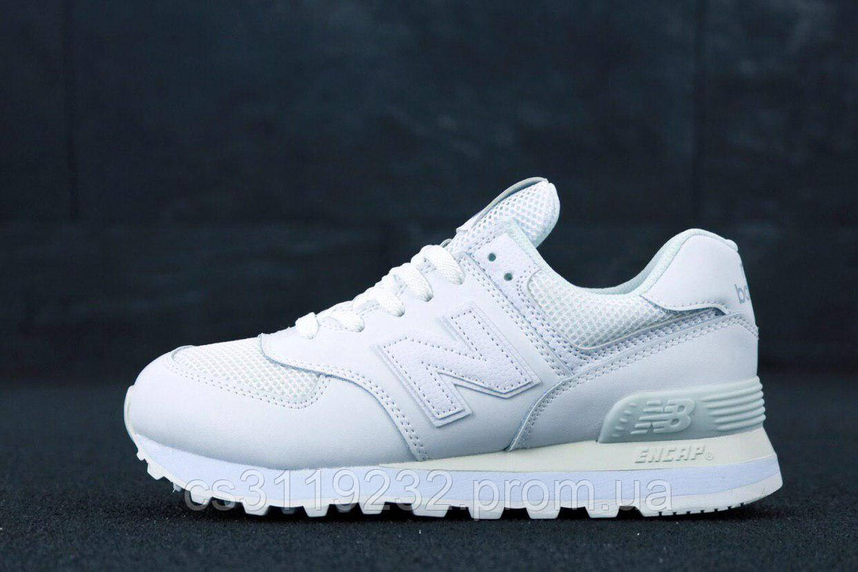 Жіночі кросівки New Balance 574 White Leather (білі)