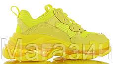 Женские кроссовки Balenciaga Triple S Yellow Clear Sole Баленсиага Трипл С желтые, фото 3