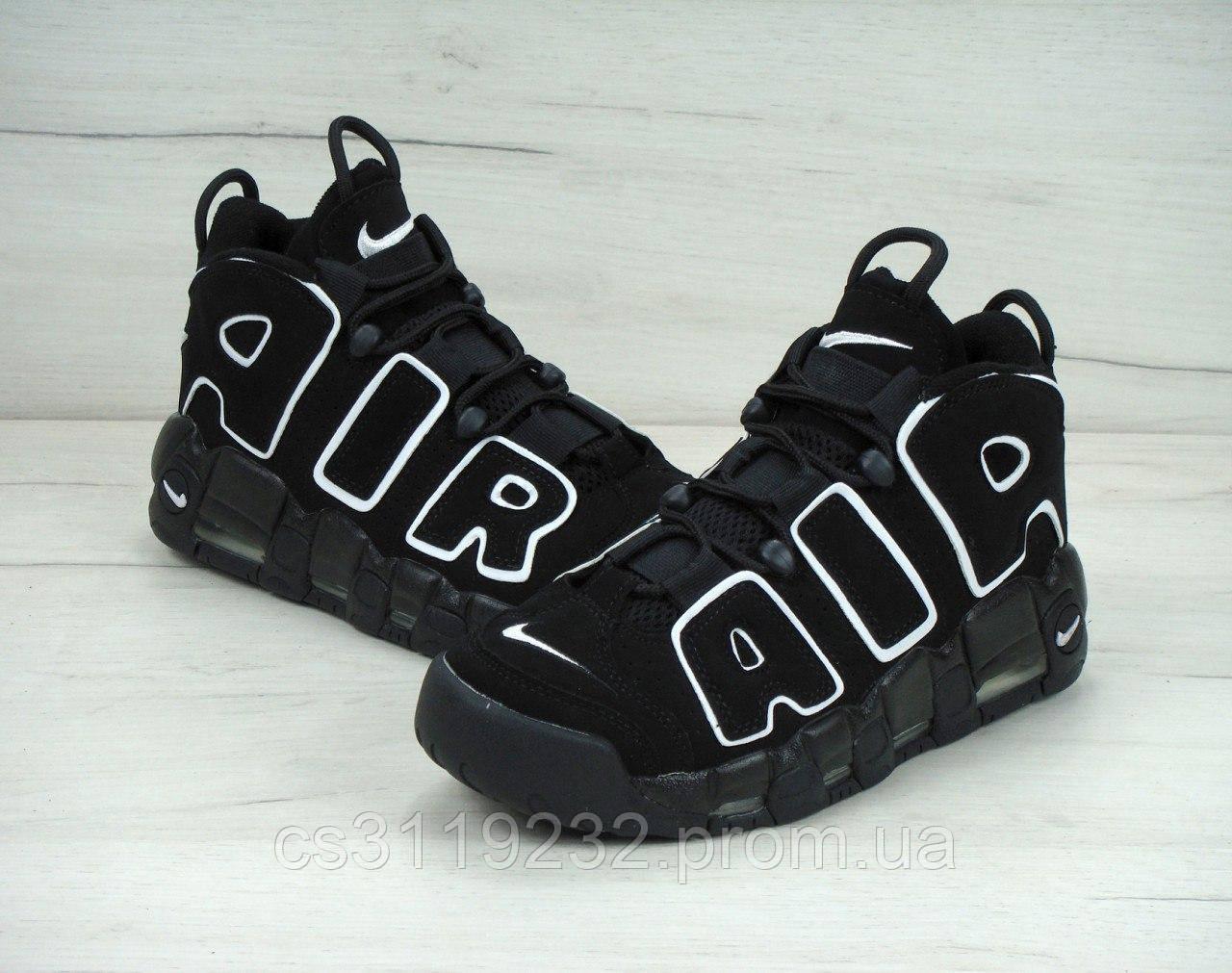 Женские кроссовки Nike Air More Uptempo (черные)