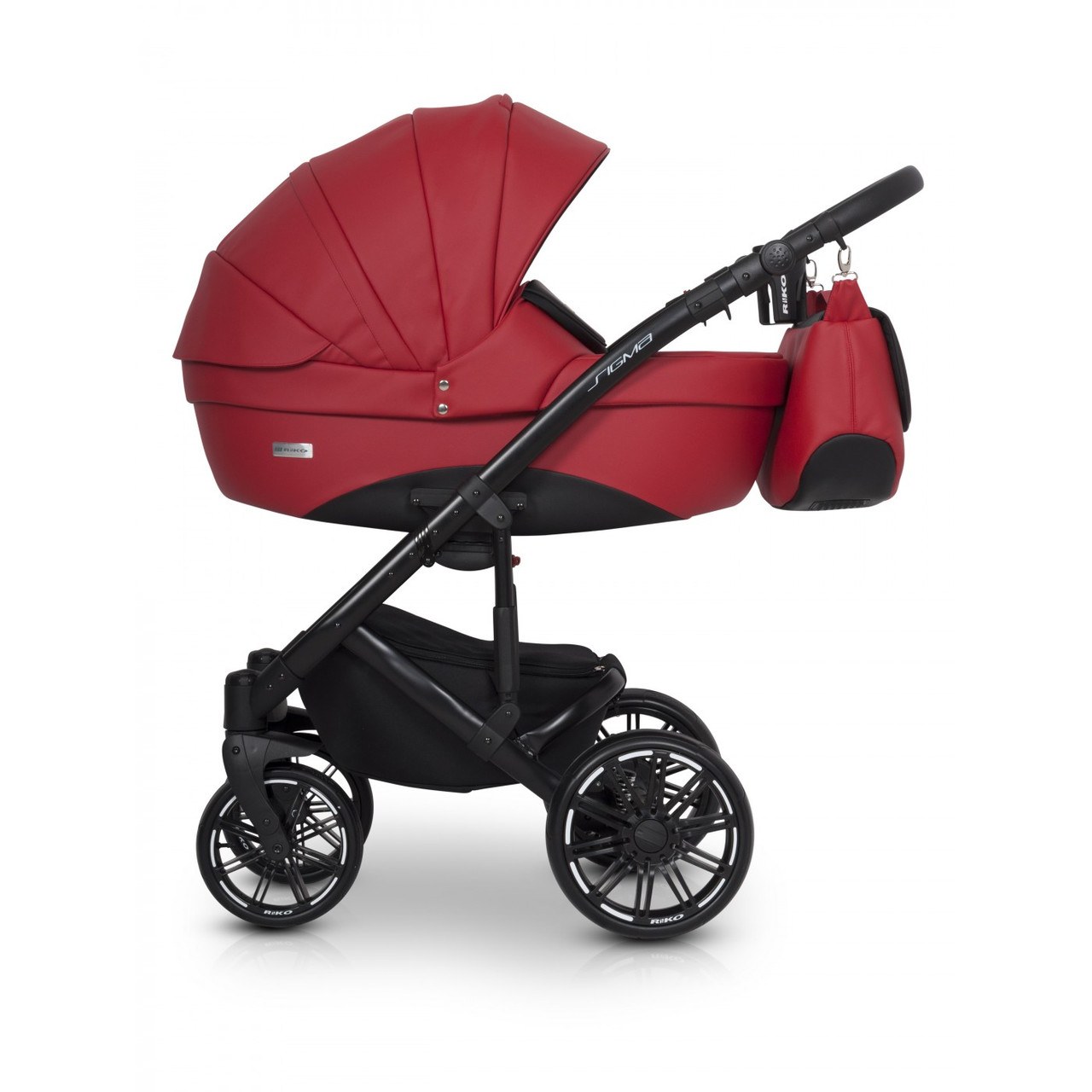 Детская универсальная коляска 3 в 1 Riko Sigma 06 Scarlet