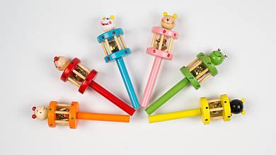 Деревянная игрушка Бубен. MD2051. Животные
