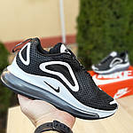 Жіночі кросівки Nike Air Max 720 (чорно-білі), фото 5