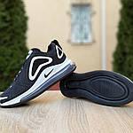Жіночі кросівки Nike Air Max 720 (чорно-білі), фото 6