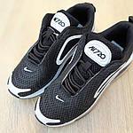 Жіночі кросівки Nike Air Max 720 (чорно-білі), фото 7