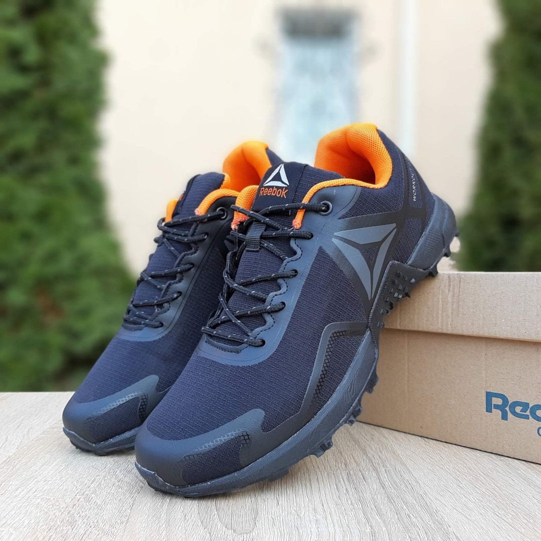 Чоловічі кросівки Reebok Workout 2.0 (чорно-помаранчеві)