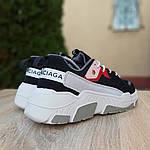 Жіночі кросівки Balenciaga Triple S V2 (чорно-червоні), фото 3