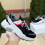 Женские кроссовки Balenciaga Triple S V2 (черно-красные), фото 8