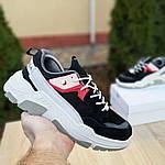 Жіночі кросівки Balenciaga Triple S V2 (чорно-червоні), фото 8