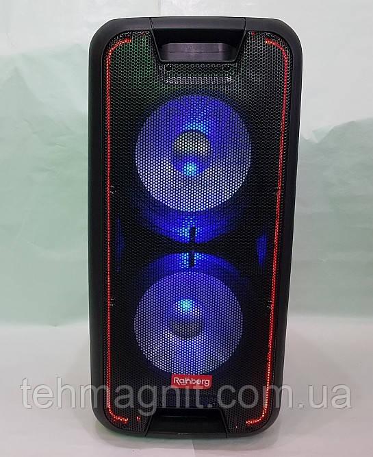 Колонка акумуляторная с микрофоном Rainberg RB-1010A 200W (USB/FM/Bluetooth)