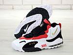 Чоловічі кросівки Nike Sportswear Air Max Speed Turf (біло-чорне з червоним), фото 3