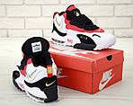 Чоловічі кросівки Nike Sportswear Air Max Speed Turf (біло-чорне з червоним), фото 4