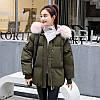Молодіжна тепла куртка оверсайз 44-48 (в кольорах), фото 2