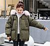 Молодіжна тепла куртка оверсайз 44-48 (в кольорах), фото 6