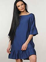 Женское льняное короткое платье (Мелани ri), фото 2