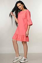 Женское льняное короткое платье (Мелани ri), фото 3