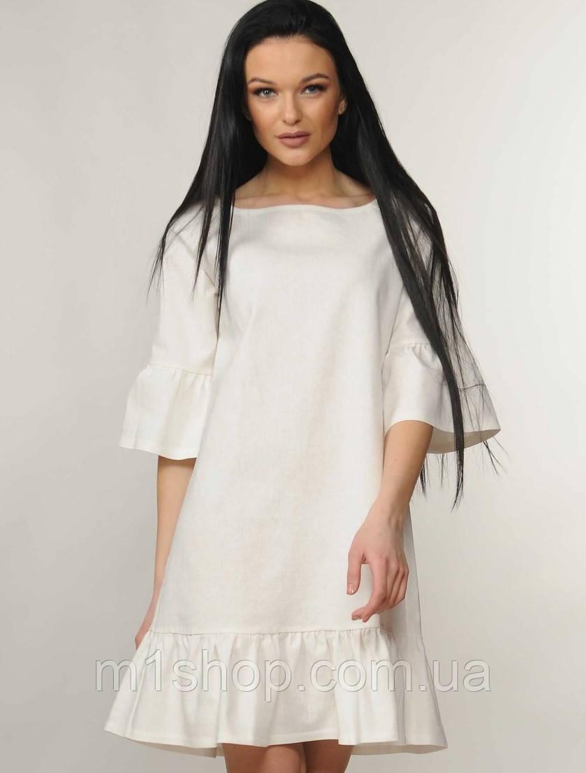 Женское льняное короткое платье (Мелани ri)