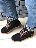 Зимние синие ботинки из нубука, фото 4