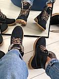 Зимние синие ботинки из нубука, фото 7