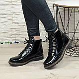 Женские ботинки лаковые на байке, фото 2
