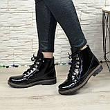 Женские ботинки лаковые на байке, фото 3