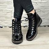 Женские ботинки лаковые на байке, фото 4
