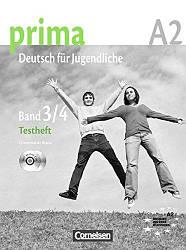 Prima Deutsch fur Jugendliche 3-4 Testheft mit Audio-CD