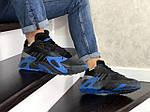 Мужские кроссовки Adidas Streetball (черно-синие), фото 2