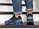 Мужские кроссовки Adidas Streetball (черно-синие), фото 4
