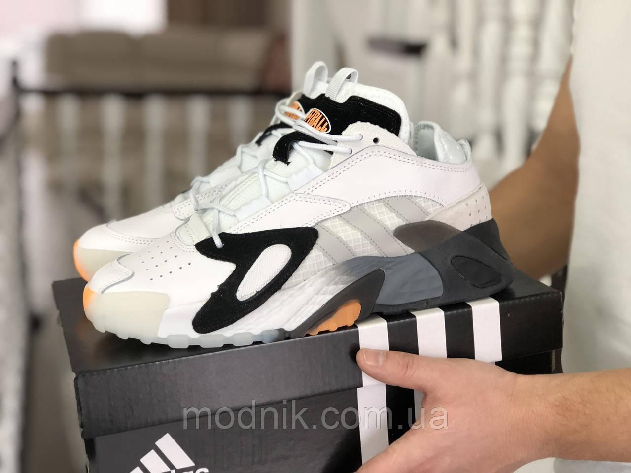 Мужские кроссовки Adidas Streetball (белые)