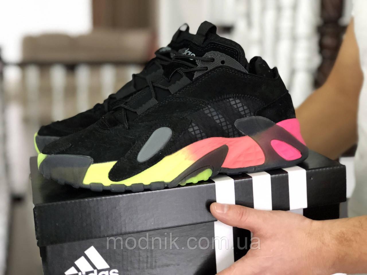 Мужские кроссовки Adidas Streetball (черно-оранжевые)