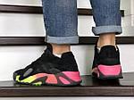 Мужские кроссовки Adidas Streetball (черно-оранжевые), фото 2