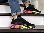 Мужские кроссовки Adidas Streetball (черно-оранжевые), фото 3